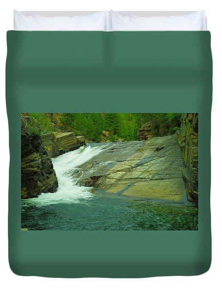 Yak Falls   Duvet Cover by Jeff Swan