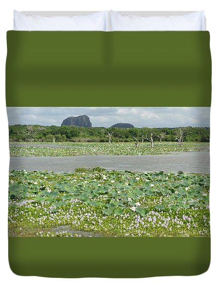 Duvet Cover featuring the photograph Yala National Park by Christian Zesewitz