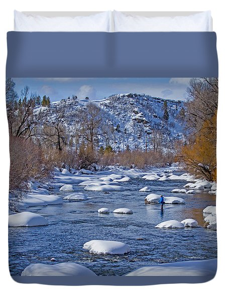 Yampa River Duvet Cover