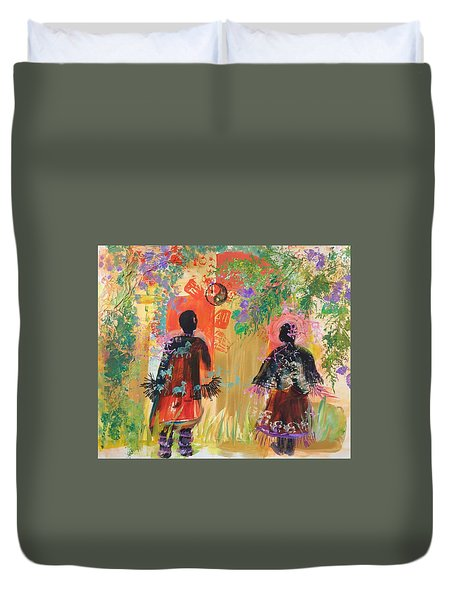 Yang And Yin Couple Duvet Cover