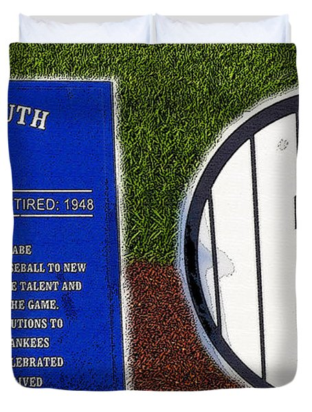 Yankee Legends Number 3 Duvet Cover by David Lee Thompson