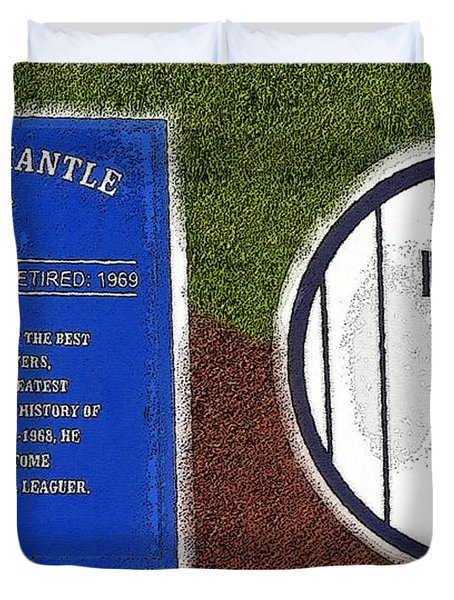 Yankee Legends Number 7 Duvet Cover by David Lee Thompson