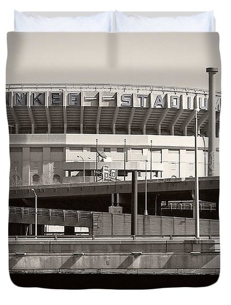 Yankee Stadium    1923  -  2008 Duvet Cover by Daniel Hagerman