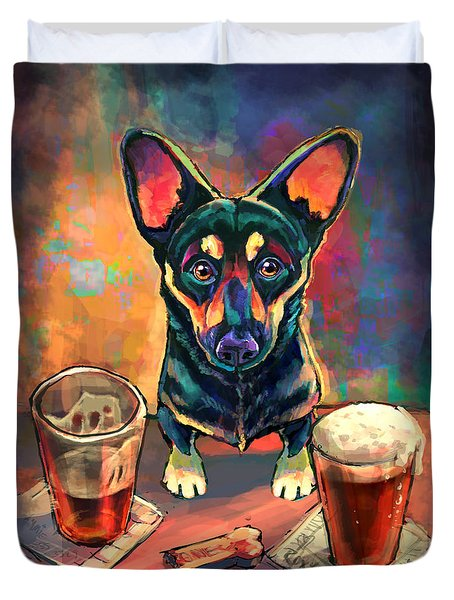 Yappy Hour Duvet Cover by Sean ODaniels