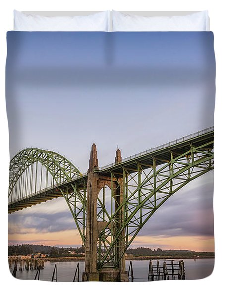 Yaquina Bay Bridge Duvet Cover