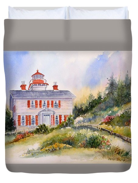 Yaquina Bay Light Duvet Cover