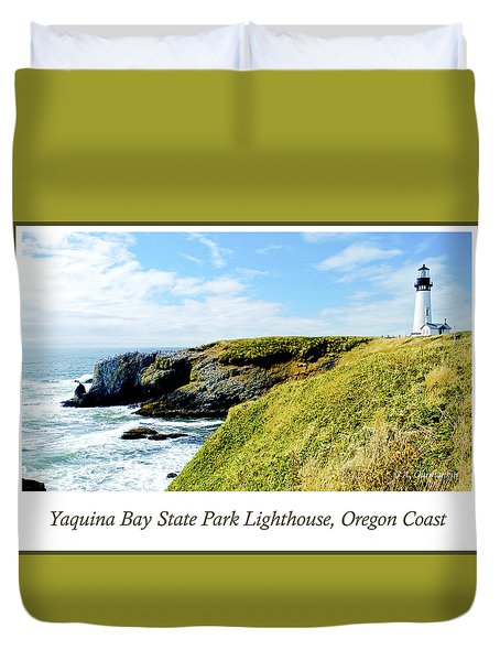 Duvet Cover featuring the photograph Yaquina Bay Lighthouse Oregon by A Gurmankin