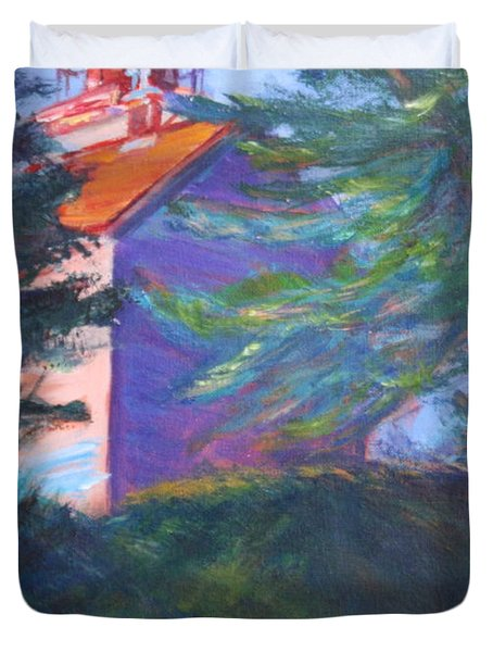 Yaquina Bay Lighthouse  Duvet Cover