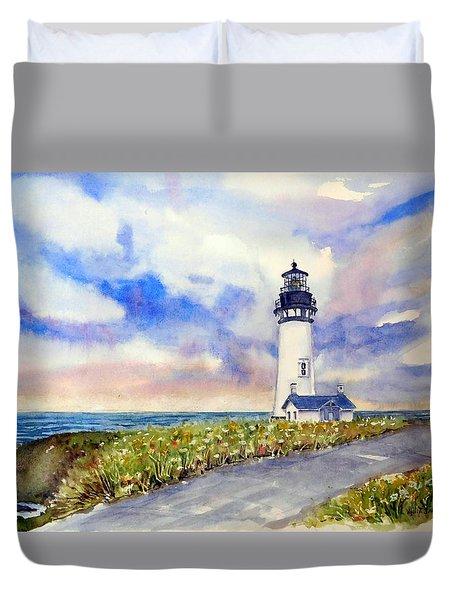 Yaquina Head Lighthouse - Springtime Duvet Cover