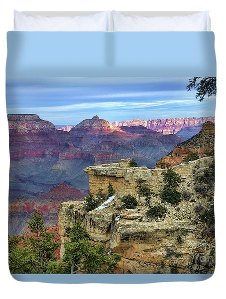 Yavapai Point Sunset Duvet Cover by Diana Mary Sharpton