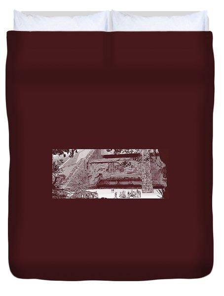 Yavin Temple Duvet Cover by Kurt Ramschissel