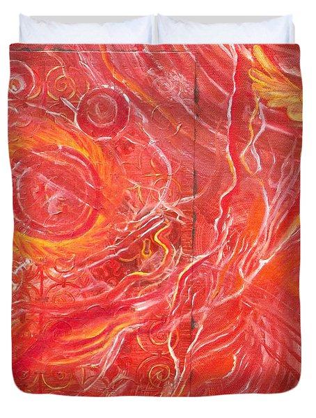 Yaweh El Shaddai Bottom Canvas Detail Duvet Cover