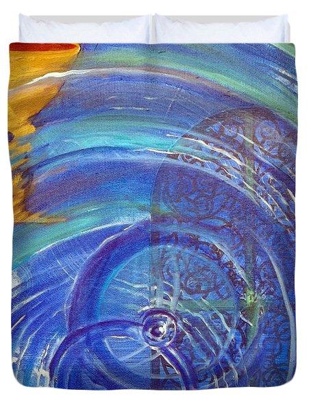 Yaweh El Shaddai Right Canvas Detail Duvet Cover