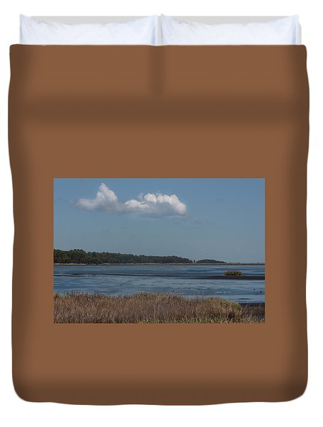 Yawkey Wildlife Reguge - View From The Causeway Duvet Cover by Suzanne Gaff
