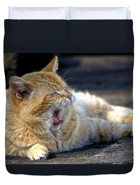 Yawning Duvet Cover