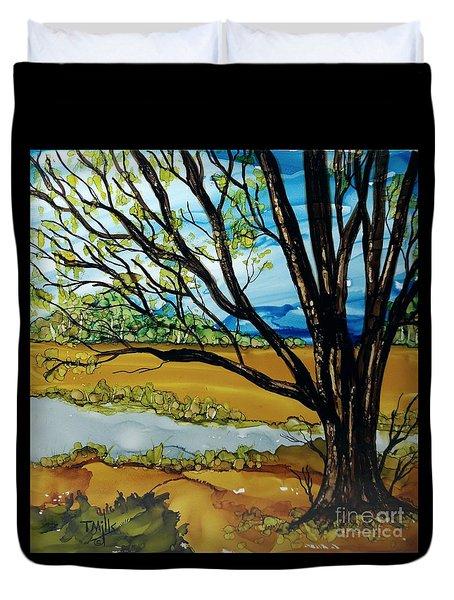 Ye Olde Oak Duvet Cover