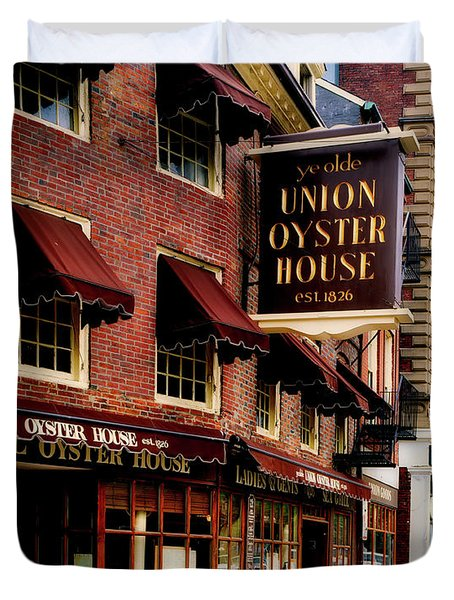 Ye Olde Union Oyster House Duvet Cover by L O C