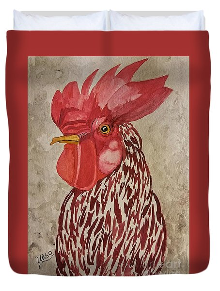 Year Of The Rooster 2017 Duvet Cover by Maria Urso