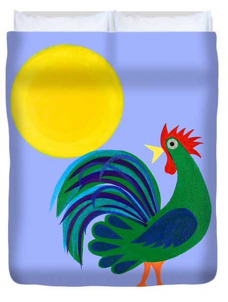 Year Of The Rooster Duvet Cover