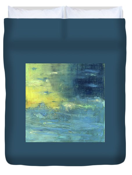 Duvet Cover featuring the painting Yearning Tides by Michal Mitak Mahgerefteh