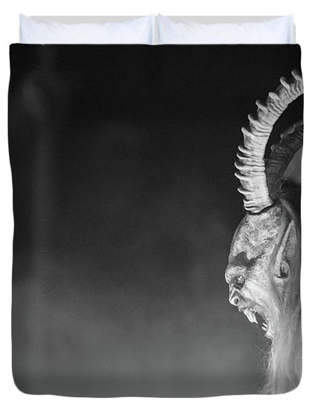Yelling Demons. Krampus Duvet Cover
