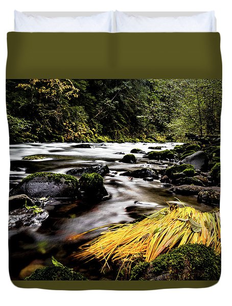 Yello Grass Duvet Cover