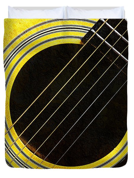 Yellow 2 Guitar Duvet Cover