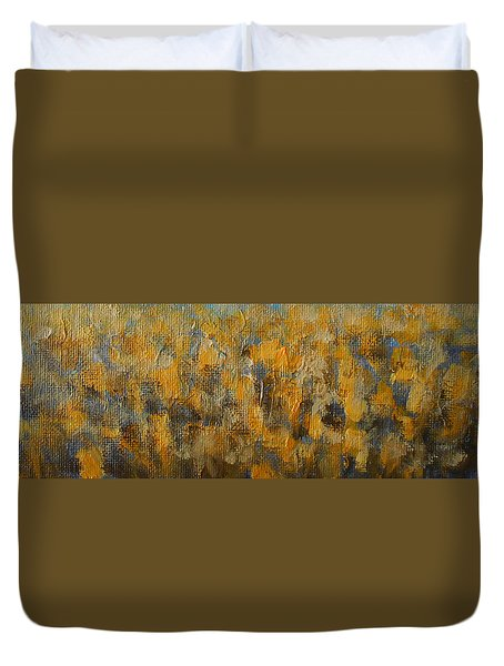 Tulips Dance Abstract 5 Duvet Cover