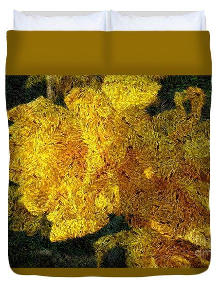 Yellow Abstraction Duvet Cover