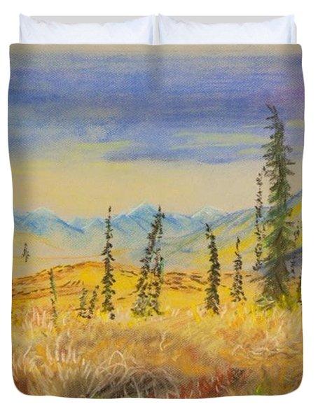 Yellow Alaska Duvet Cover