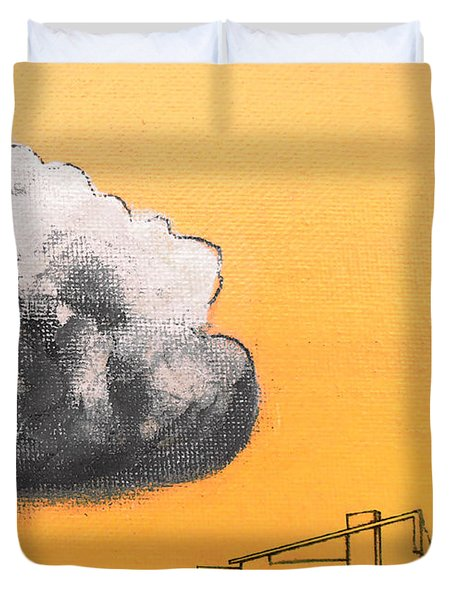 Yellow Alex Dark Cloud Duvet Cover