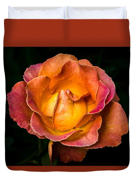 Duvet Cover featuring the photograph Yellow And Pink by Jay Stockhaus