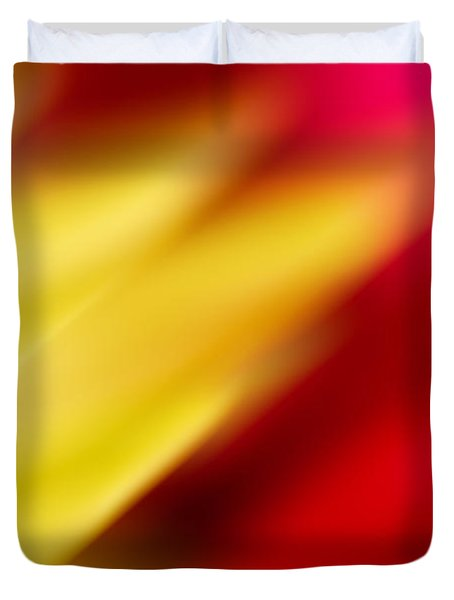 Yellow And Red Duvet Cover