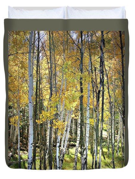 Yellow Aspens Duvet Cover