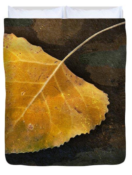 Yellow Autumn Leaf Duvet Cover