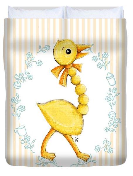 Yellow Baby Duck Duvet Cover