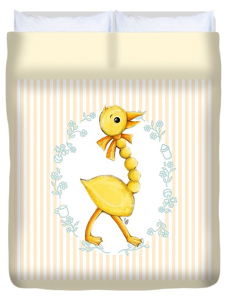 Yellow Baby Duck Duvet Cover