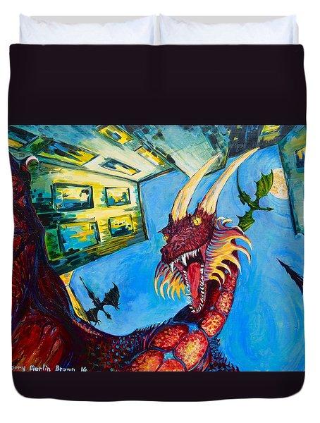 Yellow Bearded Dragon Duvet Cover
