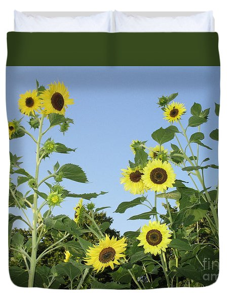 Yellow Beauties Duvet Cover