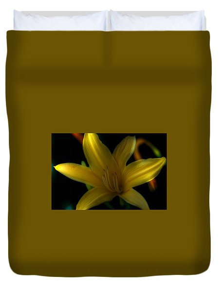 Yellow Beckoning Duvet Cover