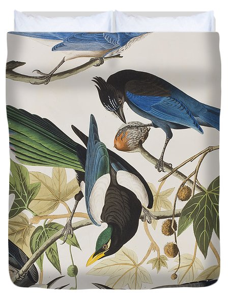 Yellow-billed Magpie Stellers Jay Ultramarine Jay Clark's Crow Duvet Cover