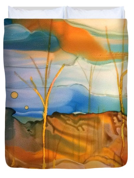 Yellow Birch Duvet Cover by Pat Purdy