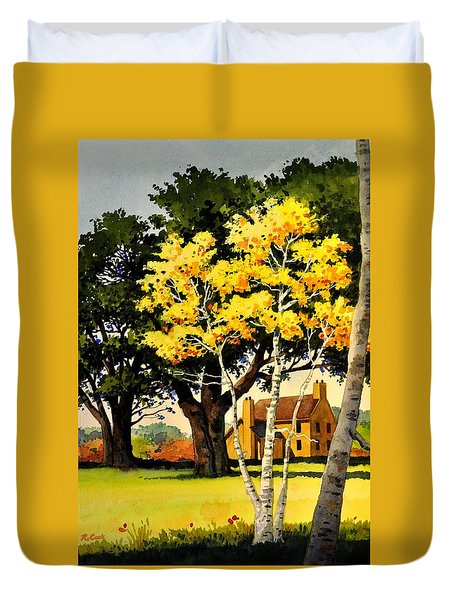 Yellow Birches Duvet Cover
