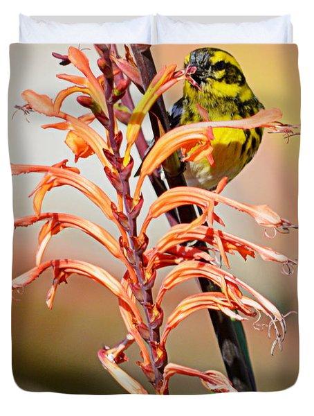 Yellow Bird Hi Duvet Cover