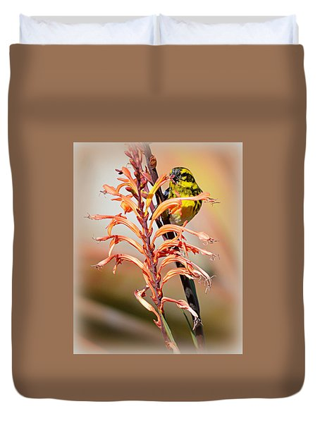 Yellow Bird Hi Duvet Cover