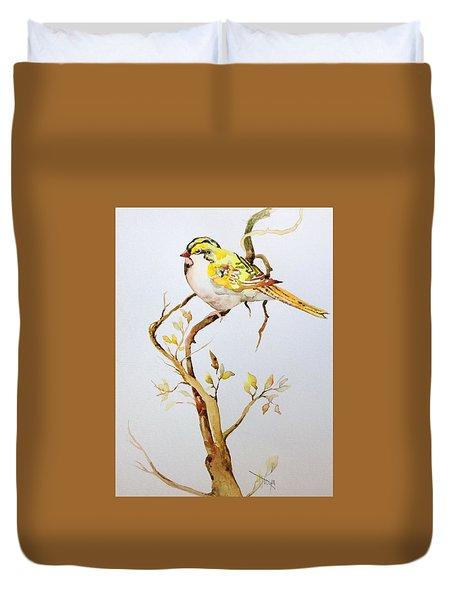 Yellow Bird Duvet Cover