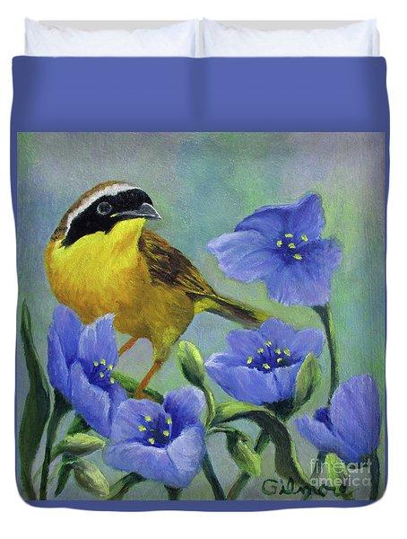 Yellow Bird Duvet Cover by Roseann Gilmore