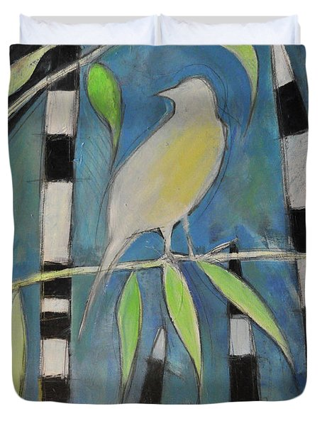Yellow Bird Up High... Duvet Cover by Tim Nyberg