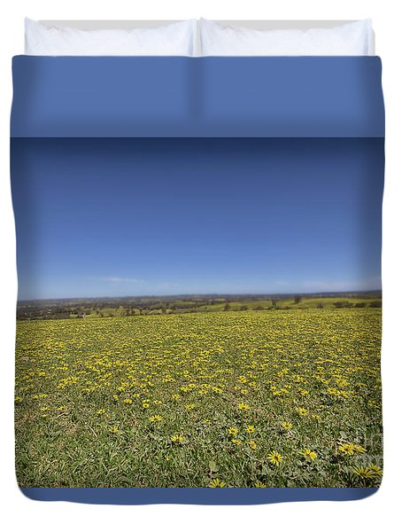 Yellow Blanket II Duvet Cover by Douglas Barnard