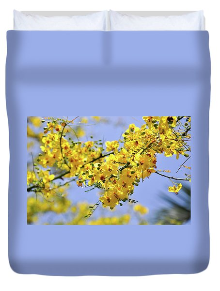 Yellow Blossoms Duvet Cover